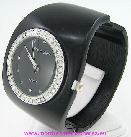 Montre femme bracelet clip acier watch uhr ebay for Miroir noir watch online